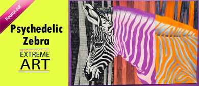 Psychedelic Zebra Canvas Painting Holiday Workshop for Kids