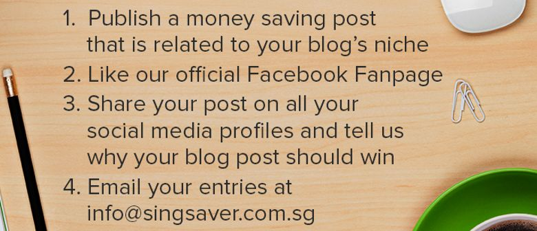 Don't Miss Out - Blog and Win a S$100 Lazada Voucher